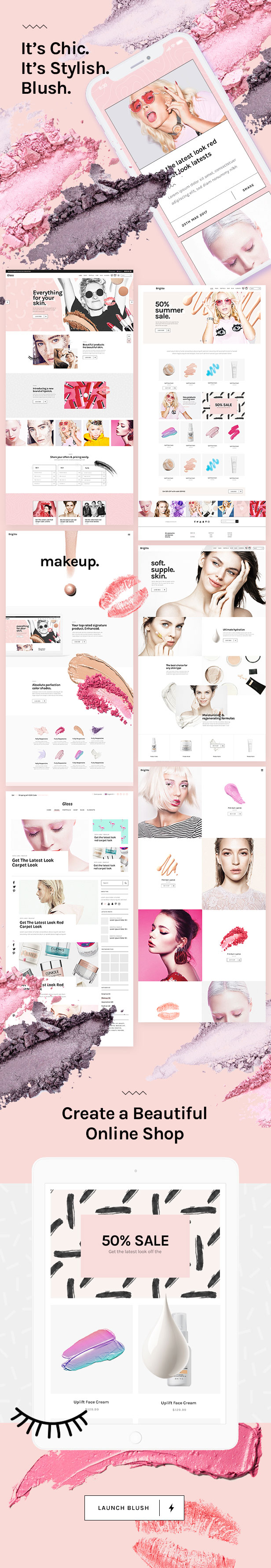 WordPress theme Blush - A Trendy Beauty and Lifestyle Theme (Health & Beauty)